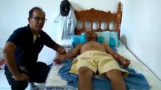 Joelho dor no perna e para acupuntura