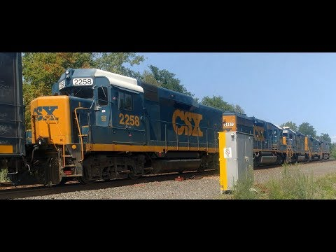 CSXT 759 and 2 Road Slug Sets lead EB Manifest @ Dunkirk, NY