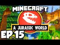 Jurassic World: Minecraft Modded Survival Ep.15 - A BIT OF TROUBLE!!! (Rexxit Modpack)