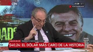 13-09-2018 - Carlos Heller en C5N - M1, con Gustavo Sylvestre – Resignación de soberanía