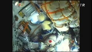 油井亀美也宇宙飛行士がソユーズTMA-17M宇宙船(43S)に搭乗し 国際宇宙...