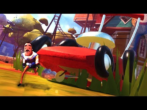 KILLING THE NEIGHBOR!? RUNNING OVER THE NEIGHBOR WITH A LAWN MOWER! Hello Neighbor Cheats / Beta 3