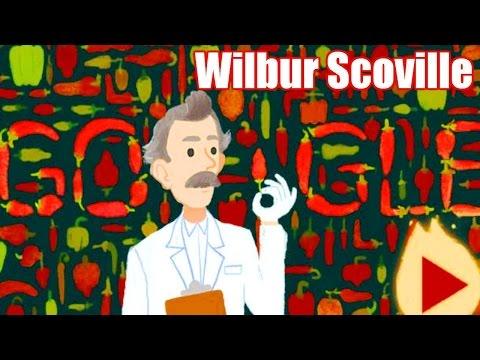 Wilbur Scoville Google Doodle. Scoville Scale Inventor Wilbur Scoville's 151st Birthday