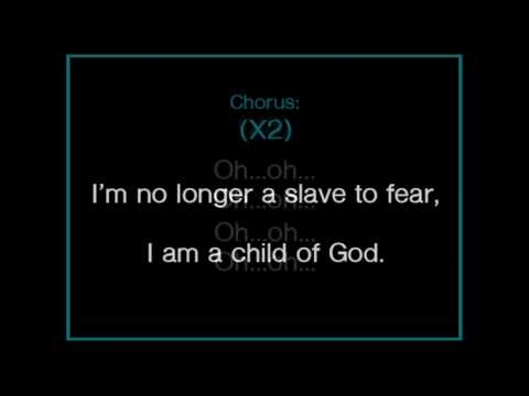 No Longer Slaves - worship karaoke/backing track and lyrics