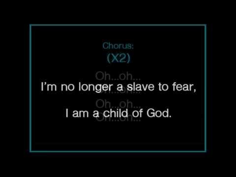No Longer Slaves - worship karaoke/backing track and lyrics