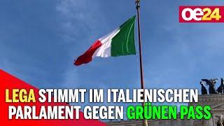Lega stimmt im italienischen Parlament gegen Grünen Pass