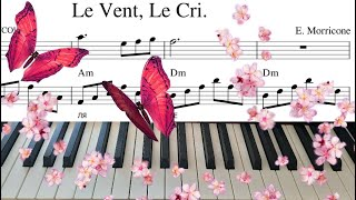 Le Vent Le Cri на пианино. Энио Мориконе Ветер, Крик. видео