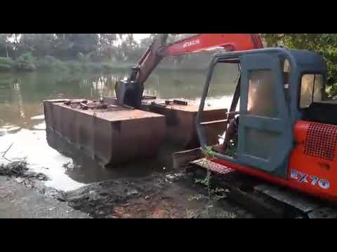 Barge work hitachy