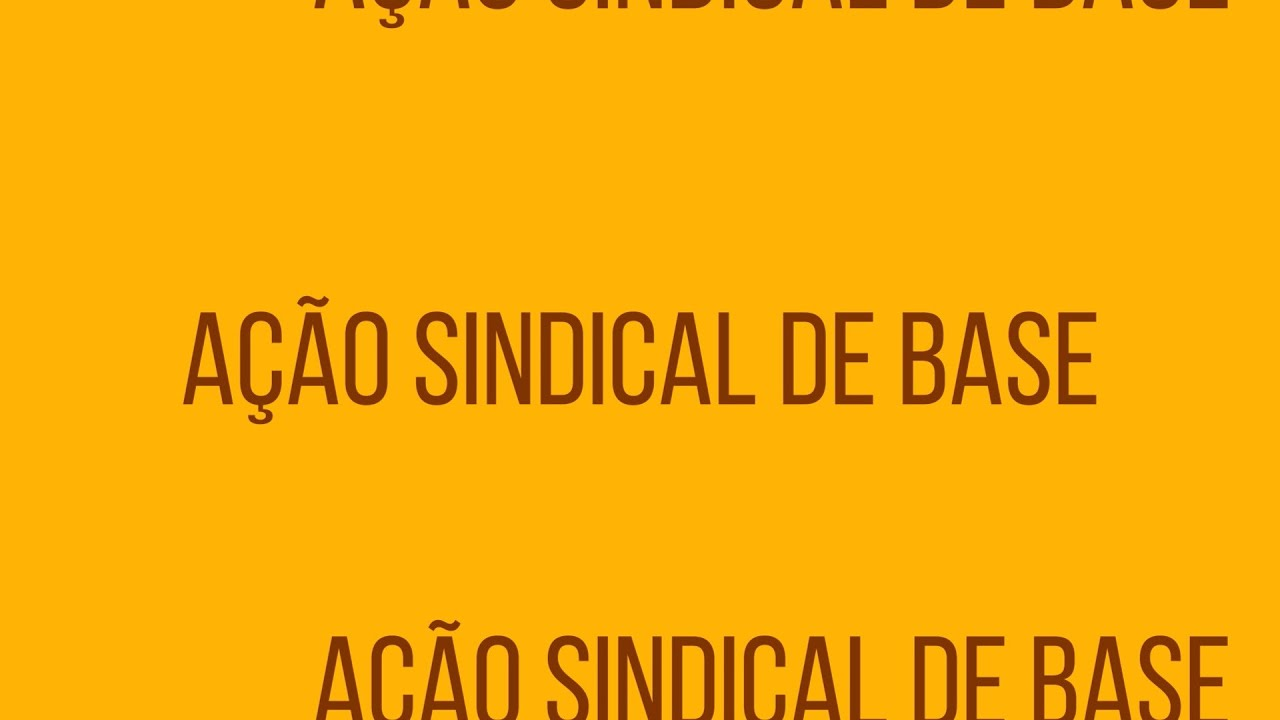 Ação Sindical de Base - SINESP 2020