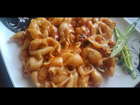 Spicy Curry Pasta / South Indian Style / Macaroni Recipe