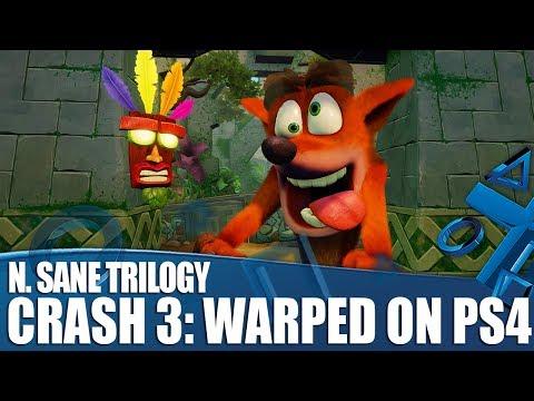 Crash Bandicoot N. Sane Trilogy - First Look At Crash 3: Warped on PS4!