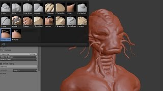 Blender Sculpting - Brushes and how to start.