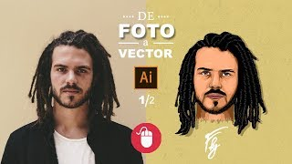 From a Picture to Vector | Illustrator Tutorial (Mouse)