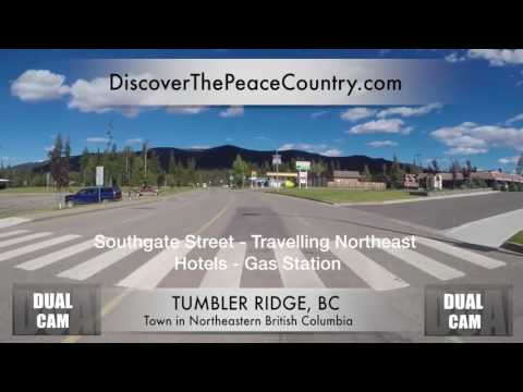 Tumbler Ridge BC - MAINSTREET - DUAL CAM VIDEO