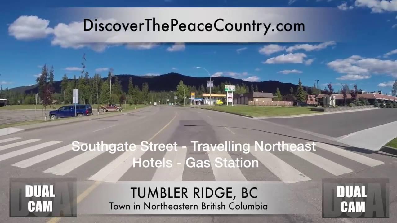 Tumbler Ridge BC - MAINSTREET - DUAL CAM VIDEO - YouTube