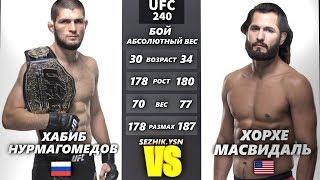 UFC БОЙ Хабиб Нурмагомедов vs Хорхе Масвидаль (com. vs com.)