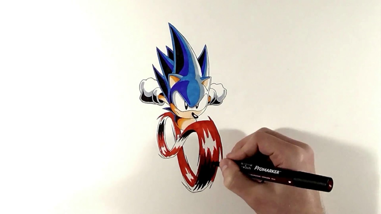 Drawing Sonic The Hedgehog Super Peel Out The Road To Sonic