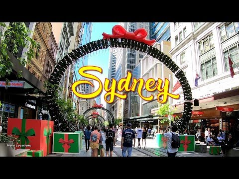 Sydney CBD - Christmas Is Coming - Sydney Shopping Street - Australia