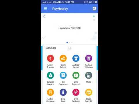 paynearby balance enquiry withdrawal and move to Bank