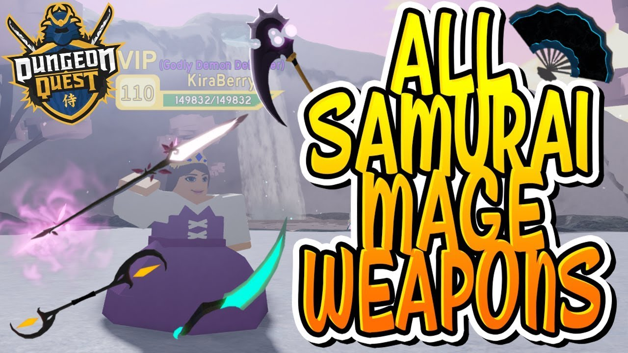 ALL NEW SAMURAI PALACE MAGE WEAPONS IN DUNGEON QUEST!!! (Roblox)