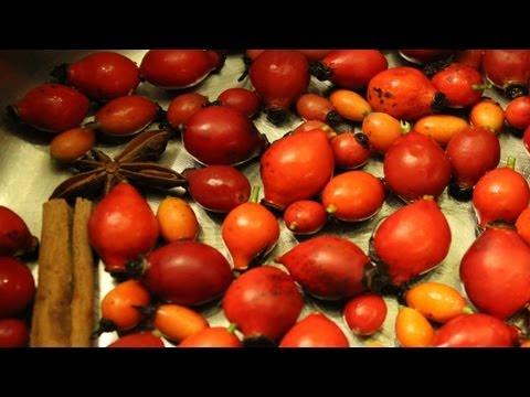 Rosehip Syrup Organic Recipe - Delicious Sauce & Traditional Medicine. Recette sirop baies de roses