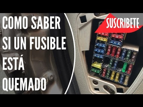 COMO CHECAR FUSIBLES DEL AUTO YouTube