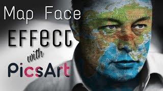 Elon Musk Map Face Effect | PicsArt Tutorial