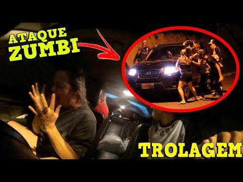 TROLEI MINHA MÃE COM UMA INVASÃO ZUMBI NO CARRO!