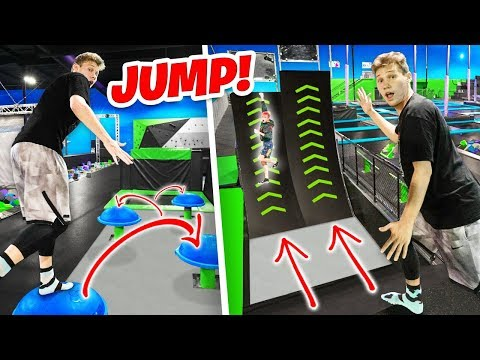 SUPER TRAMPOLINE PARK OBSTACLE COURSE (FUNNY MOMENTS)