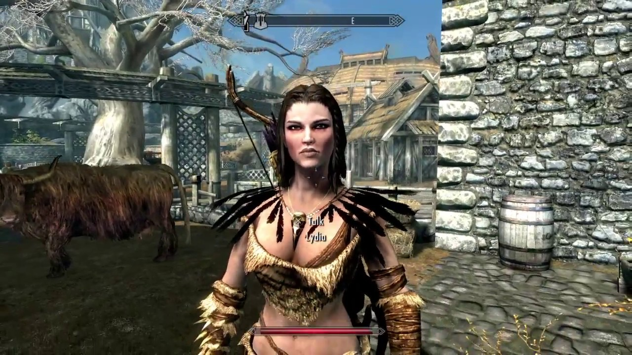 Skyrim Special Edition: Making Lydia use good equipment - companion bow  mechanics