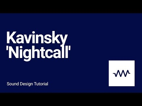 How to make the bass and arpeggio sound for Kavinsky  Nightcall