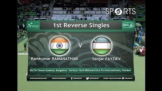 Davis Cup 2017 | Ramkumar Ramanathan vs Sanjar Fayziew | #INDvUZB