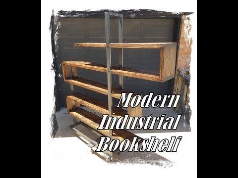 Modern Industrial Bookshelf