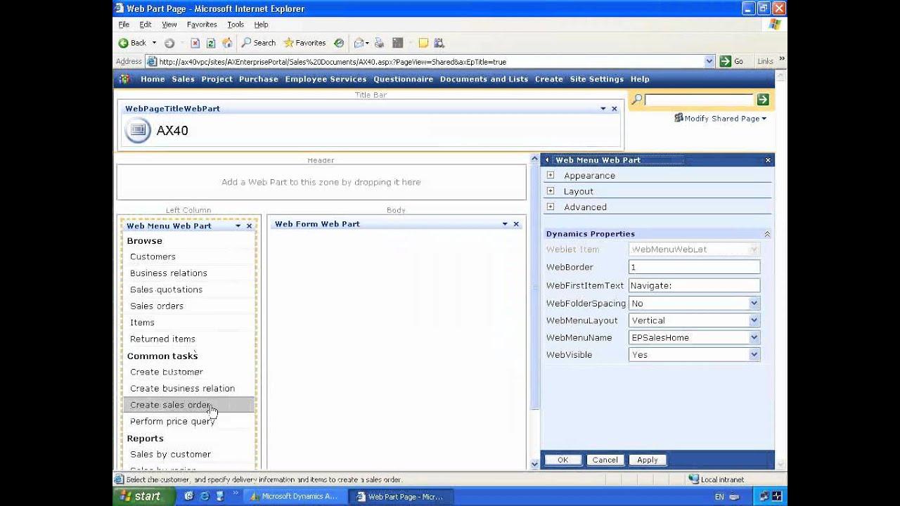 Ax pre requisites to install dynamics ax 2009 and enterprise portal - Microsoft Dynamics Ax Enterprise Portal