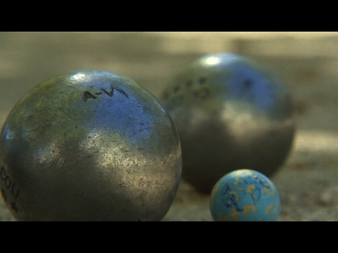 The French game of pétanque, an institution in Provence