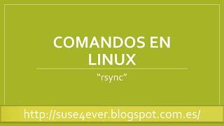 Comandos de linux - rsync - copiar archivos  con estadististicas