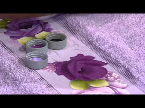 Mulher.com 11/07/2014 - Pintura Rosa Toalha de Rosto por Ana Laura Rodrigues - Parte 1