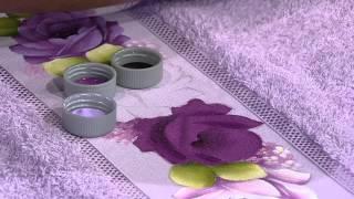 Pintura Rosa Toalha de Rosto por Ana Laura Rodrigues – Parte 1