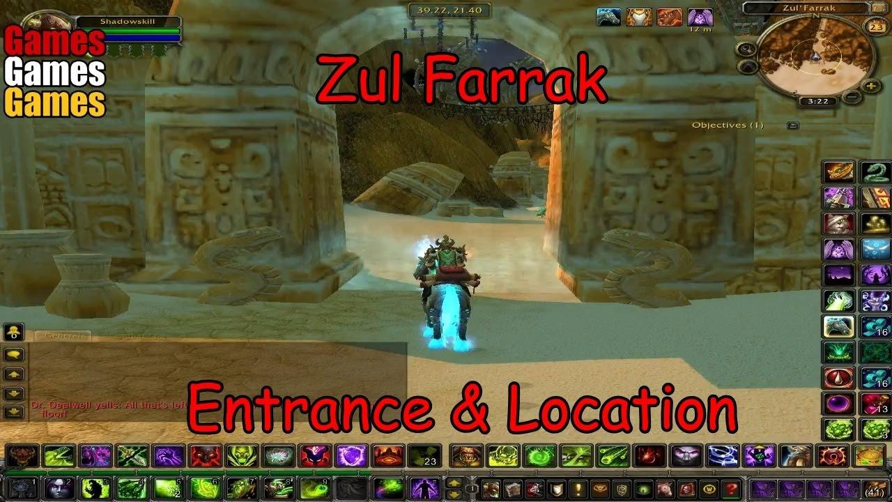 zul farrak entrance location world of warcraft original dungeons youtube. Black Bedroom Furniture Sets. Home Design Ideas