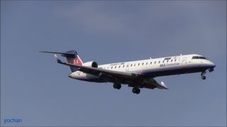 Bombardier CRJ700 NG (CL-600-2C10 Regional Jet CRJ-702).Landing approach !! Ibex Airlines (Japan)