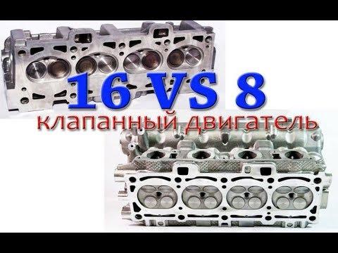 Что лучше: двигатель на 8 или 16 клапанов? Отличия, ресурс, преимущества и недостатки