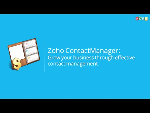 Zoho ContactManager: Grow your business through effective contact management.