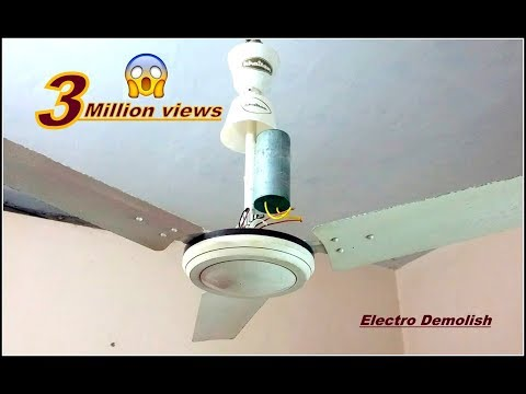 What Will Happen If I Connect Huge 1000mfd Capacitor Ceiling Fan Torture Test Part II