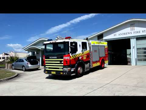 New South Wales Fire & Rescue responding St Andrews NSW