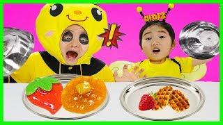 [진짜음식vs젤리]허니올림픽에 출전한 꿀벌보람vs 말벌코난 과연 승자는 누가 될까?마야의모험 극장판 마야2 어린이 애니메이션 영화 real food vs gummy