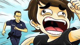 Desenho Animado Historia Em Portugues ☆ COMO EU FUGI DA POLÍCIA