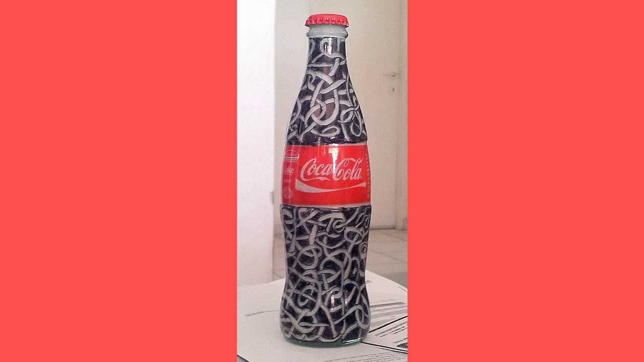 Decorated COCA COLA Bottle - YouTube