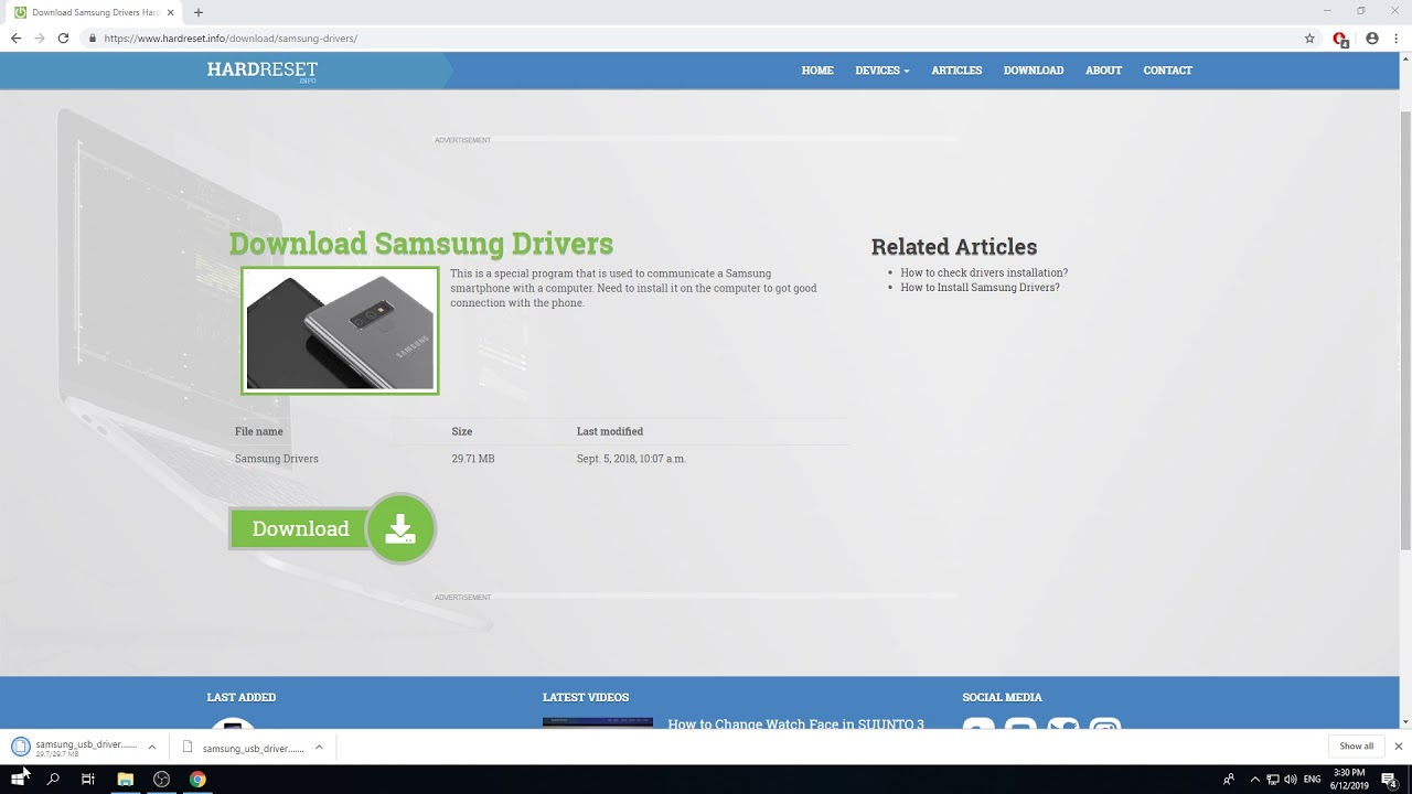 Download Samsung Drivers | How to Install Samsung Drivers