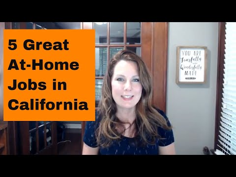 Work At Home Jobs In California