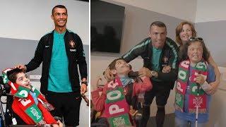 Cristiano Ronaldo fulfilled two children's dreams